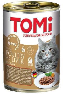 Консервы для кошек Tomi (Томи) Poultry Liver Птица-печень 0,4 кг, фото 2