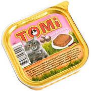 Вологі корми для кішок Tomi Veal Poultry з телятиною і птицею паштет 100 гр