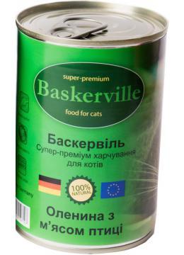 Baskerville (Баскервиль) Консервы для кошек Оленина и курица 400 гр