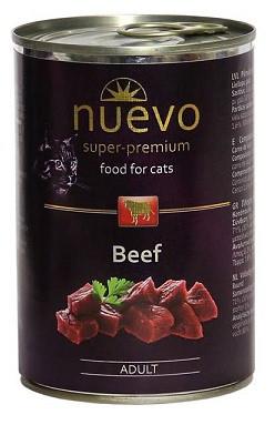 Nuevo (Нуэво) Adult Beef Консервы для кошек Говядина 400 гр