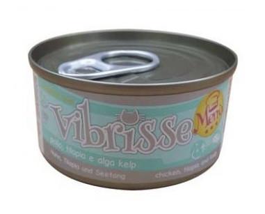 Vibrisse Menu Консервы для кошек Курица и тилапия в соусе из водорослей 70 гр
