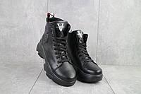 Женские ботинки кожаные зимние черные Best Vak БЖ 45/4-01