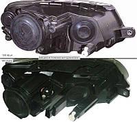 Фара правая VW Passat B6 электрокорректор Н7+Н7 черная (ТИП HELLA) (DEPO)