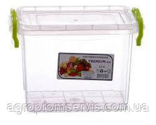 """Контейнер LUX для пищевых продуктов высокий №1 (1,1 л.) """"AL plastik"""""""