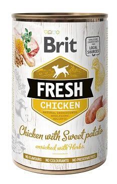 Brit Fresh Консервы Брит Фреш для собак с курицей и бататом 400 гр, фото 2