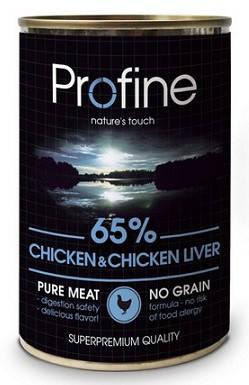 Консервы Profine (Профайн) для собак  Курица-Печень 400 гр, фото 2