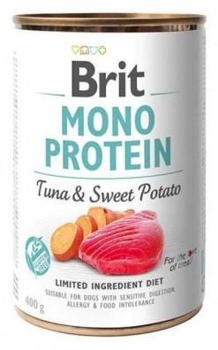 Консервы Brit (Брит) Mono Protein Dog для собак Тунец-Батат 400 гр