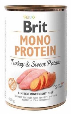 Brit Mono Protein Dog Влажный корм для собак Индейка-Батат 400 гр, фото 2