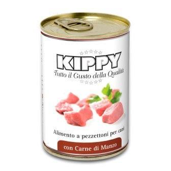 Вологий корм для собак KIPPY Консерви Киппи з шматочками яловичини 400 гр