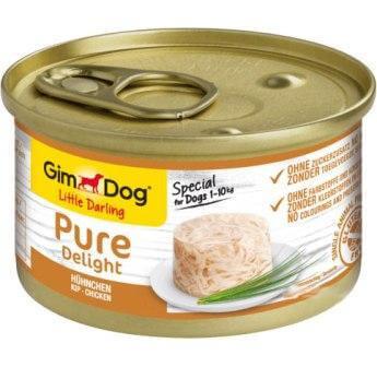 Консервы для собак GimDog Pure Влажный корм с курицей 85 гр