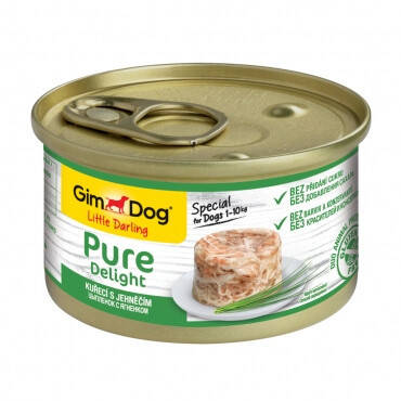 GimDog Pure Консерви для собак Вологий корм з куркою та індичкою 85 гр, фото 2