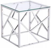 Журнальный столик хромированная сталь GLAMOUR EXCLUSIVE стекло