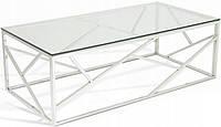 Журнальный столик хромированная сталь GLAMOUR EXCLUSIVE 2 стекло