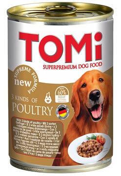 Tomi Супер преміум Консерви для собак Томі 3 виду птиці 0,4 кг, фото 2