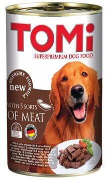 Tomi (Томи) Супер премиум влажный корм для собак 5 видов мяса 1,2 кг