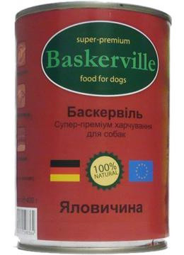 Baskerville Влажный корм для собак Телятина 800 гр