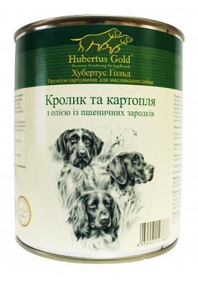Hubertus Gold Консервы для собак Кролик и картофель 800 гр
