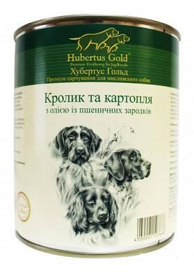 Hubertus Gold Консервы для собак Кролик и картофель 800 гр, фото 2