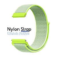 Нейлоновый Ремешок для Galaxy Watch Active Light Green