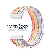 Нейлоновый Ремешок для Galaxy Watch Active Rainbow
