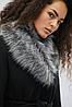 Шерстяное зимнее пальто с поясом, фото 3