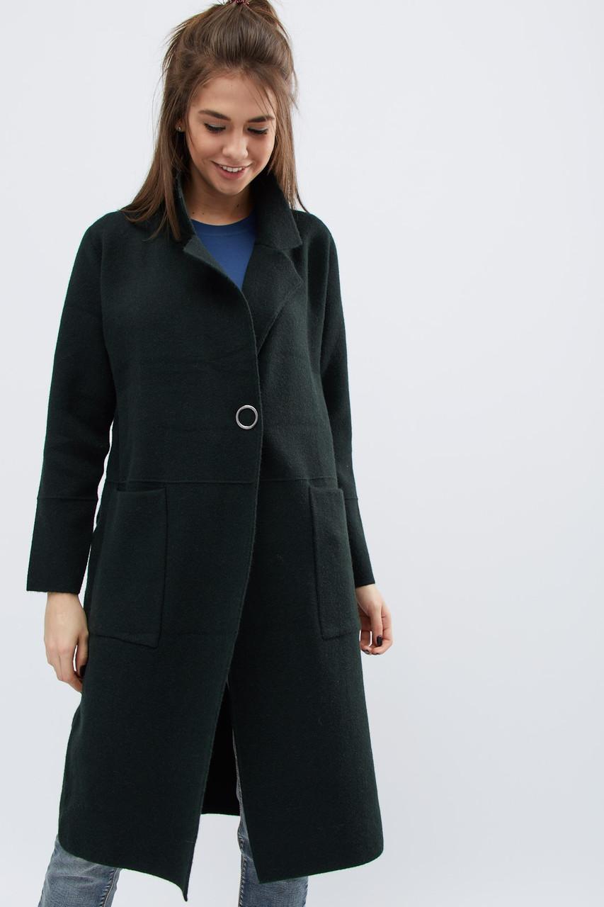 Демисезонное пальто прямого силуэта на кнопках