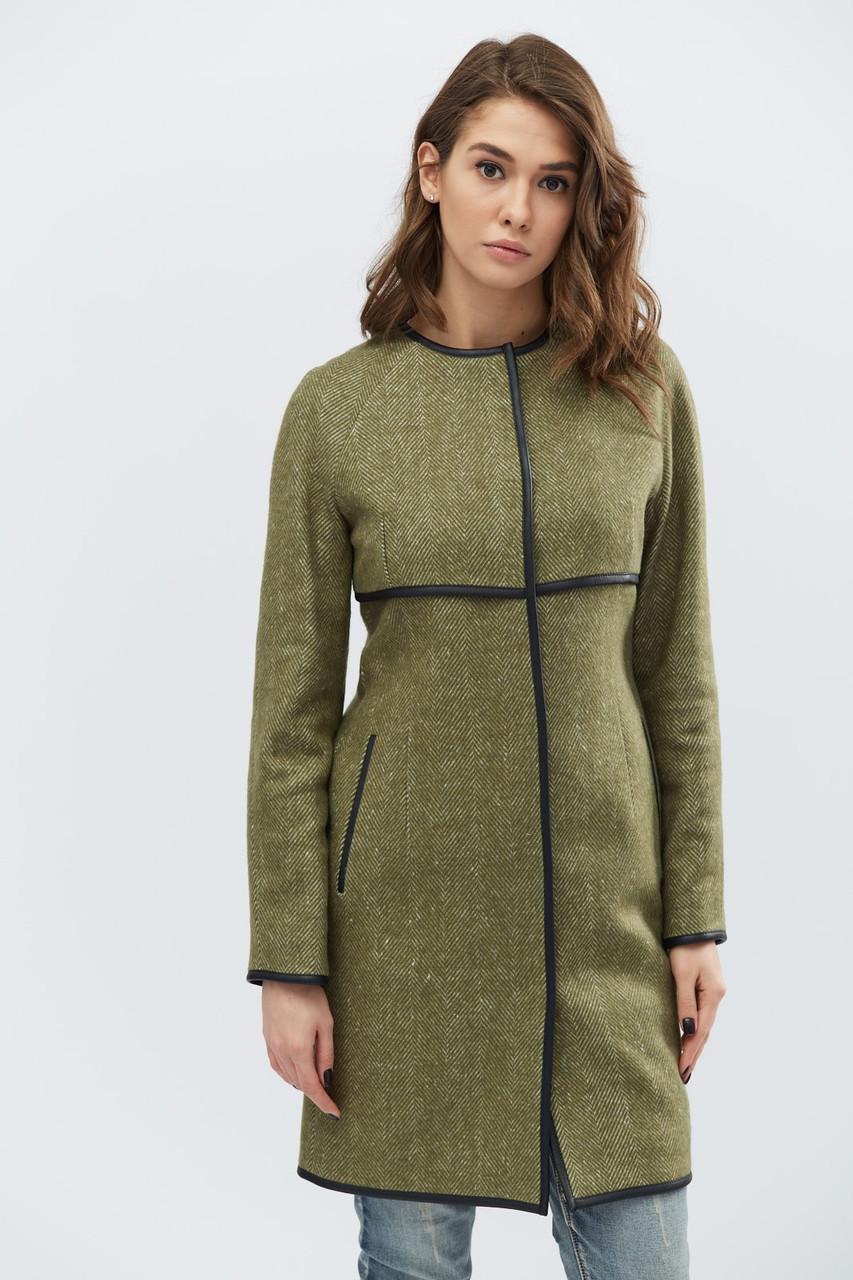 Элегантное пальто, выполненное из кашемира