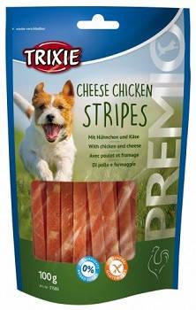 Ласощі для собак Trixie PREMIO Chicken Cheese Stripes сир курка 100 гр, фото 2