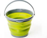 Складное ведро силиконовое 10л. Tramp TRC-091 Olive