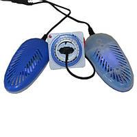 Электросушилка для обуви SHINE ЕСВ - 12/220К с таймером ультрафиолетовая антибактериальная синяя