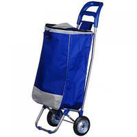 Тачка сумка на колесах кравчучка металл 94см MHZ MH-2079 Blue