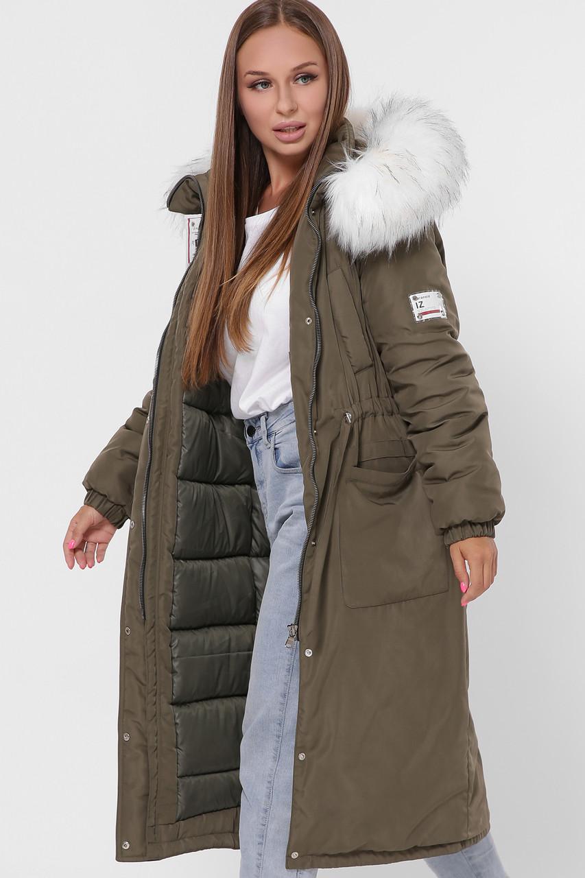 Женская зимняя куртка на кулиске