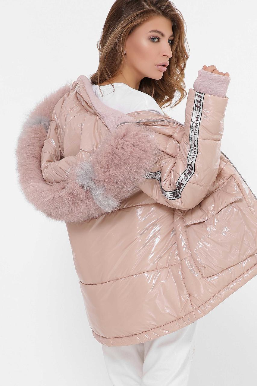 Теплая зимняя женская куртка oversize