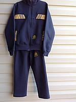 Теплый костюм для мальчиков спортивного стиля Желтая полоска размеры: 92, 98, 104, 110, 116