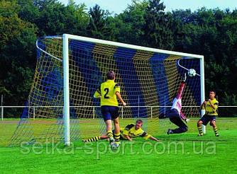 """Сітка для футбольних воріт """"Преміум """"1,5/2,1""""(осередок """"15"""", Ø шнура -3,5 мм)"""