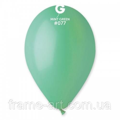"""Шар Gemar 10""""(26см) Пастель, 77 зеленый мятный G90 77"""
