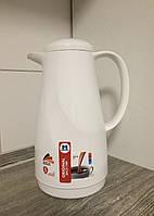 Термос Bonita 1 л для напитков чая и кофе с стеклянное колбой