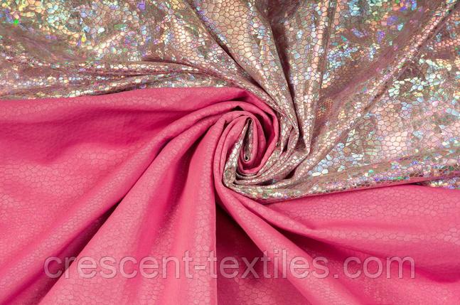 Біфлекс з Напиленням Глограм Луска (Срібло на Рожевим), фото 2