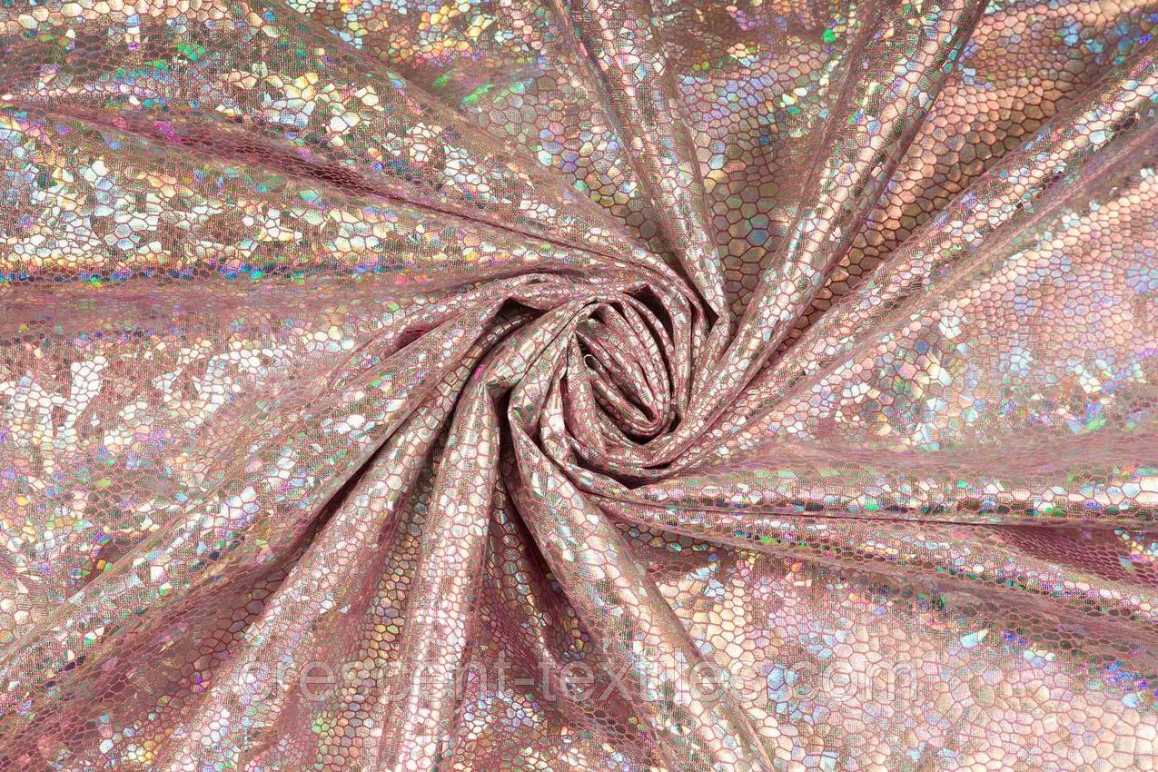 Біфлекс з Напиленням Глограм Луска (Срібло на Рожевим)