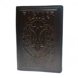 Обложка на паспорт Украины кожаная
