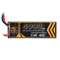 ZOP Power 7.4V 4000mAh 45C 2S Lipo Батарея T Plug для RC Авто - 1TopShop, фото 3