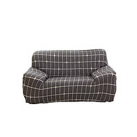 Чехол на диван натяжной 2х 3х местный Stenson R26305 Brown 145-185 см