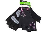 Перчатки X17 XGL-677PI гелевые, женские, розово-черные, XS