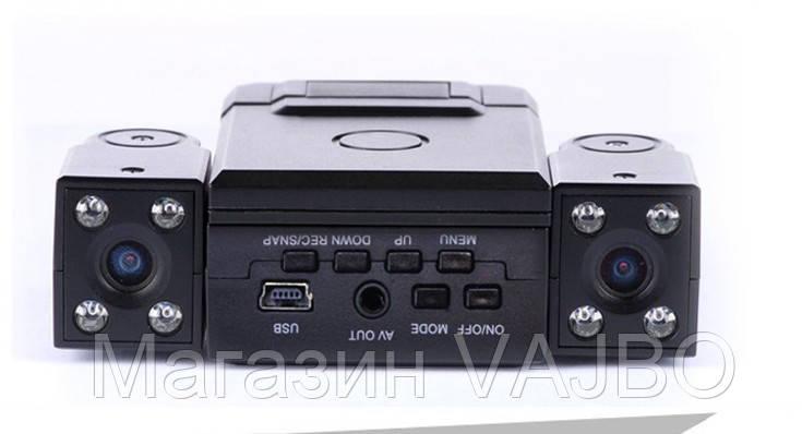 Видеорегистратор с двумя камерами hd dvr h3000