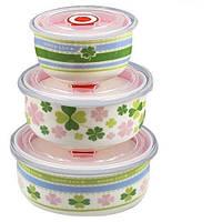Набор салатников с крышками Stenson MC2706, 3 шт