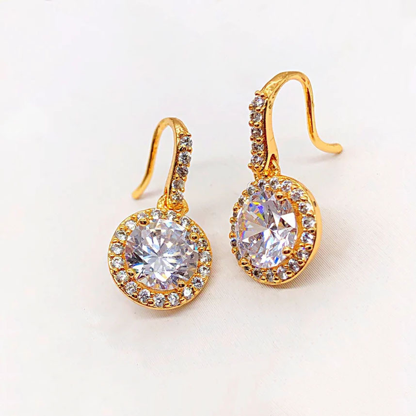 СКИДКА!!! Серьги Xuping Jewelry Даяна медицинское золото, позолота 18К А/В 4761