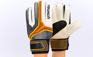 Рукавички воротарські FB-6745-3 REUSCH (PVC, р-р 8-10, чорний-помаранчевий)