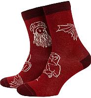 Носки с принтом мужские Mushka Leonardo (LEON01) 41-45 Красные