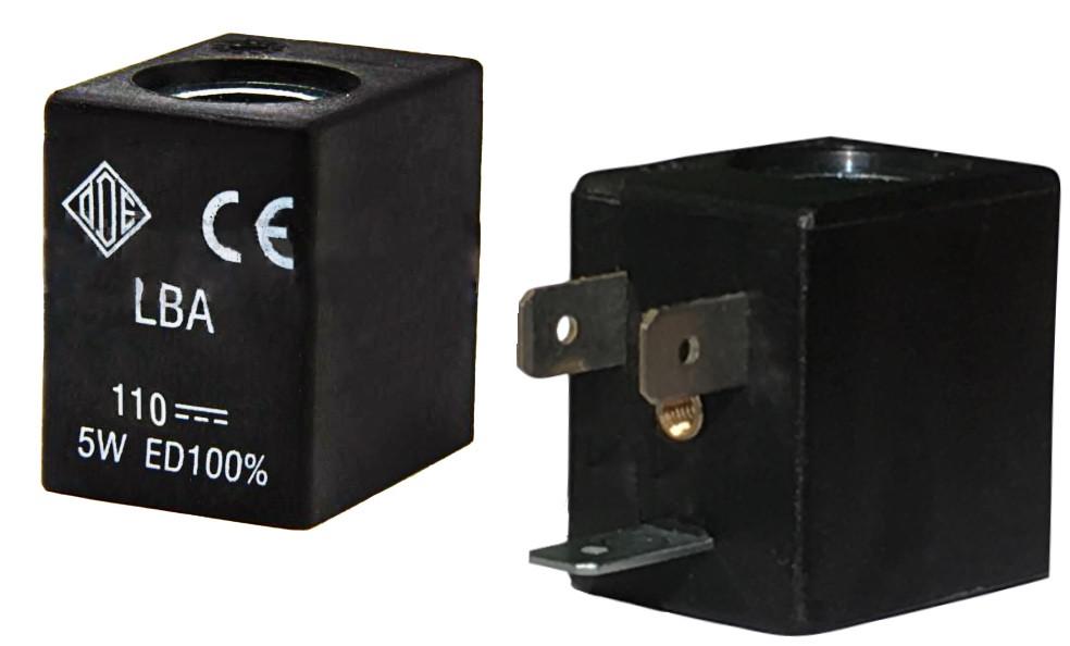 Электромагнитная катушка 110 В постоянный ток компании ODE (Italy), 5 W, 22 мм x Ø10