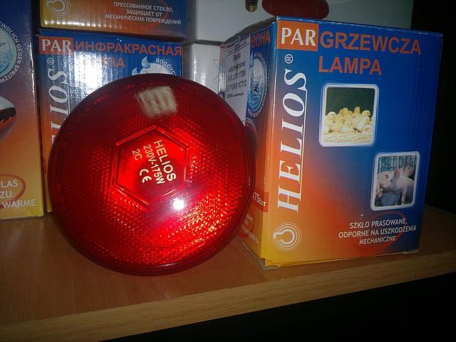 Інфрачервона лампа PAR38 175 Вт